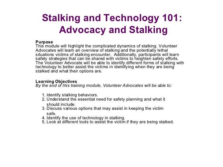 Stalking 101 power point