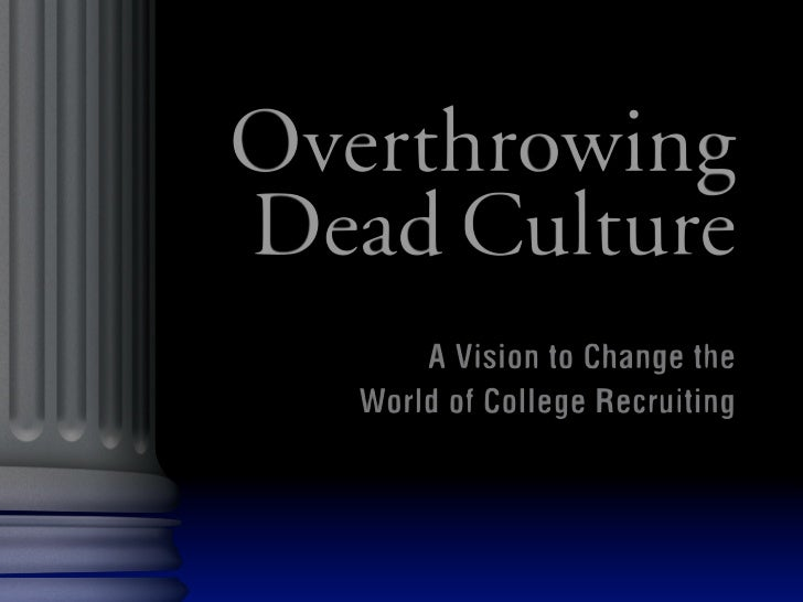 Overthrowing Dead Culture, Brian Niles
