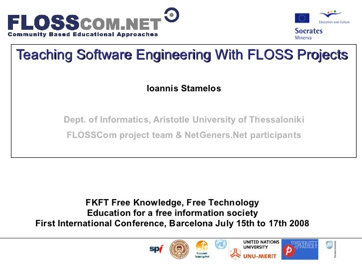 Teaching Software Engineering With FLOSS Projects
