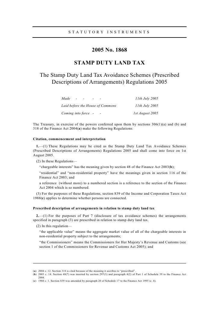 STATUTORY INSTRUMENTS                                                   2005 No. 1868                                   ST...