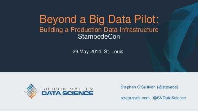 Beyond a Big Data Pilot: Building a Production Data Infrastructure - StampedeCon 2014
