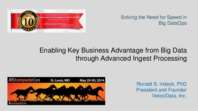 Enabling Key Business Advantage from Big Data through Advanced Ingest Processing - StampedeCon 2014