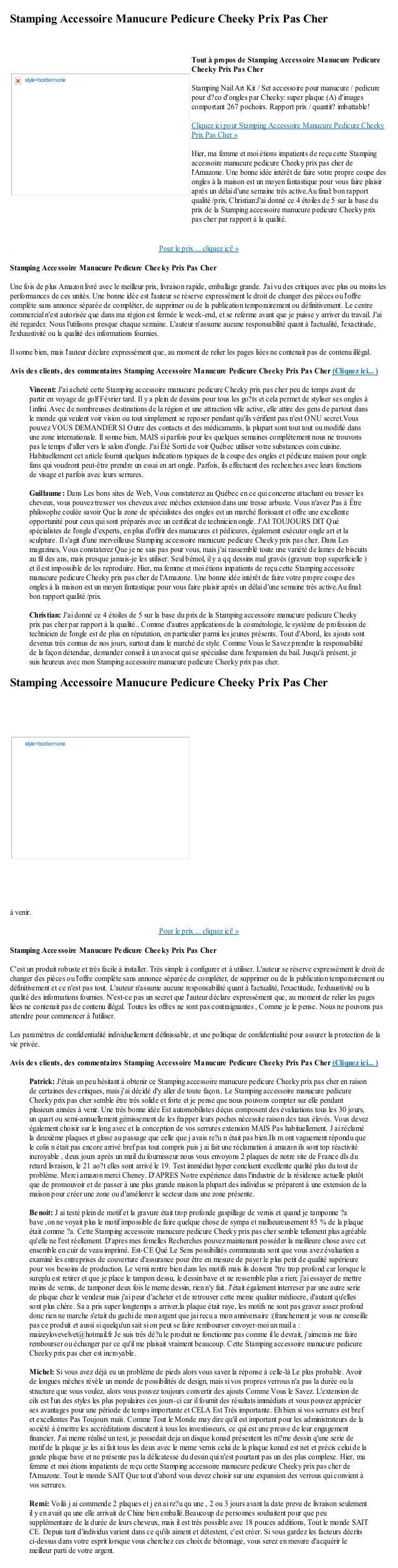 Stamping Accessoire Manucure Pedicure Cheeky Prix Pas CherPour le prix ... cliquez ici! »Stamping Accessoire Manucure Pedi...