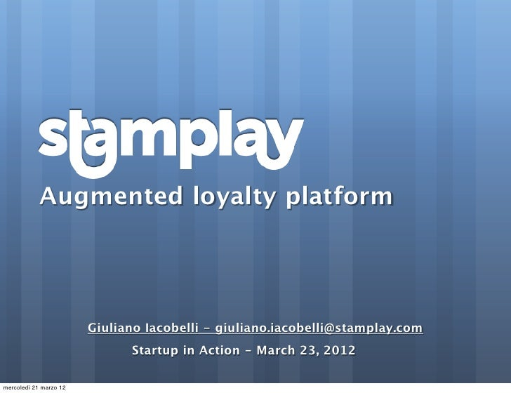 Startup in action: Stamplay, by Giuliano Iacobelli