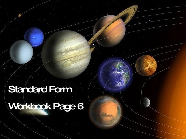 Standard Form Workbook Page 6