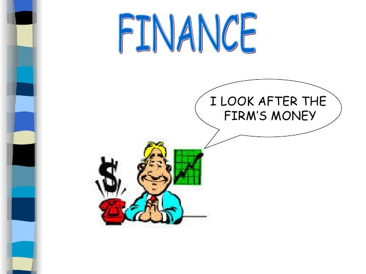 FINANCE I LOOK AFTER THE FIRM'S MONEY