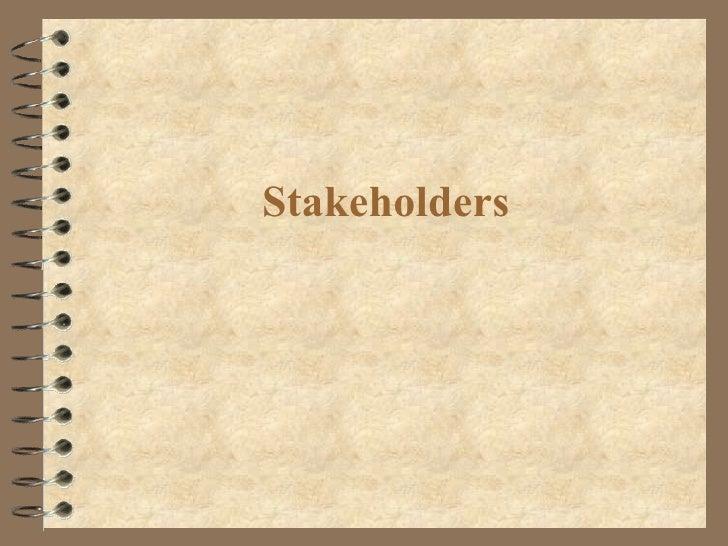 Standard Grade Business Management - Stakeholders