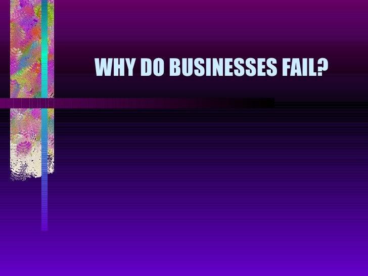 Standard Grade Business Management - Why Do Businesses Fail?