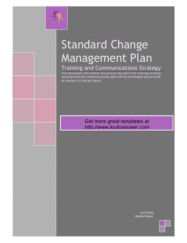Change management strategy for Change management communication template