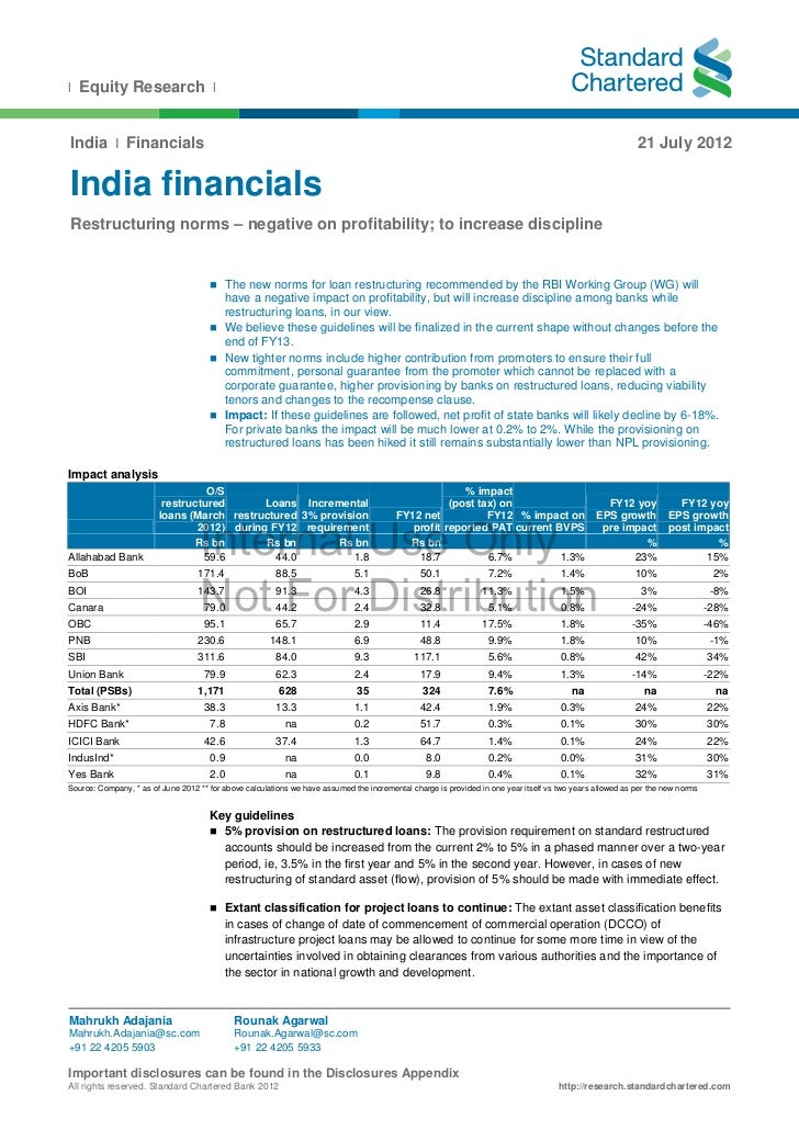 l Equity Research l India I Financials                                                                                    ...