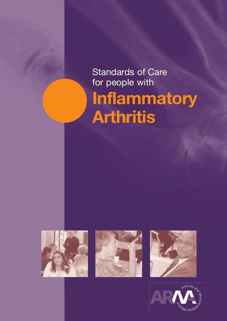 Standards of Carefor people withInflammatoryArthritis