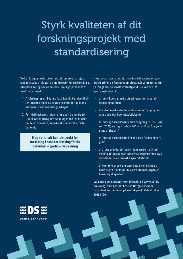 Styrk kvaliteten af dit             forskningsprojekt med                 standardiseringVed at bruge standardisering i di...