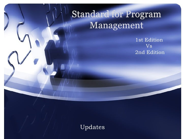 Standard For Program Management Changes