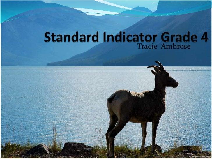 Standard Indicator Grade 4<br />TracieAmbrose<br />