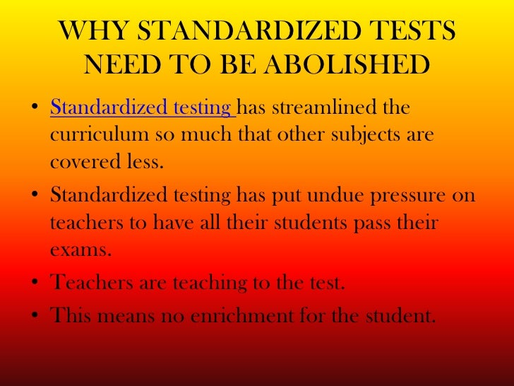 standardized testing essay cons The big question is, are standardized tests actually helping or hurting student learning a hotly debated topic pros & cons of standardized tests.