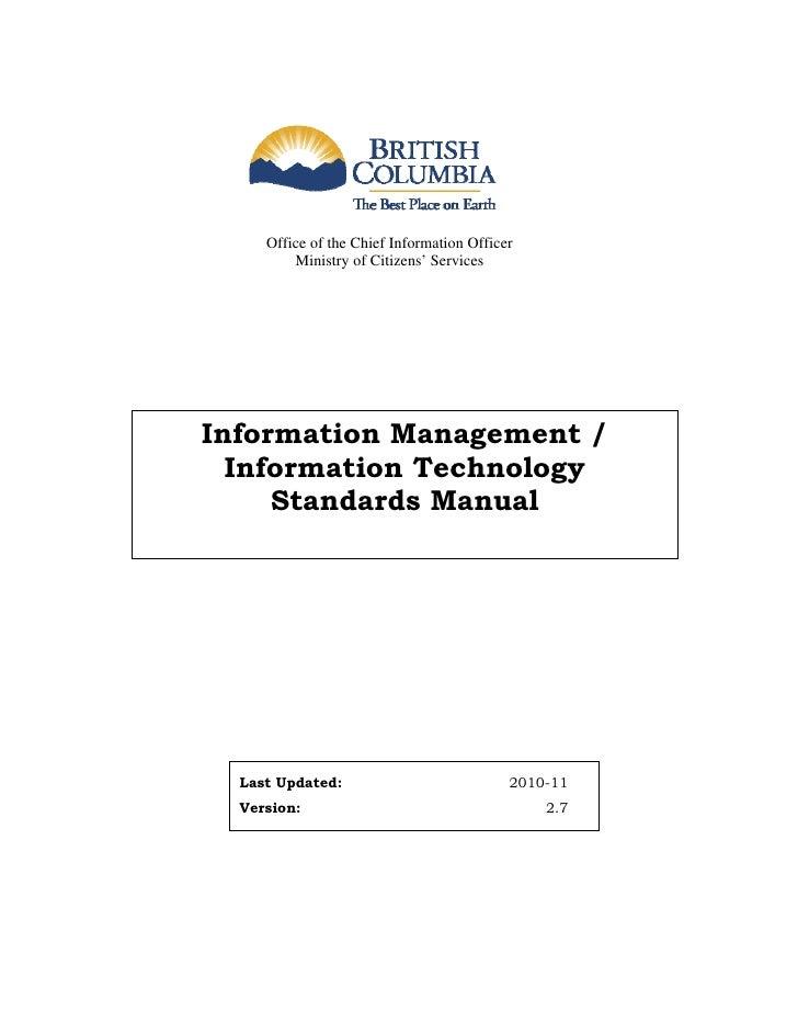 Standards manual