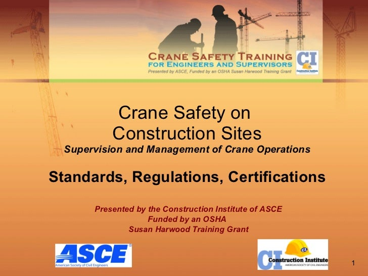 Crane Safety on  Construction Sites Supervision and Management of Crane Operations Standards, Regulations, Certifications ...