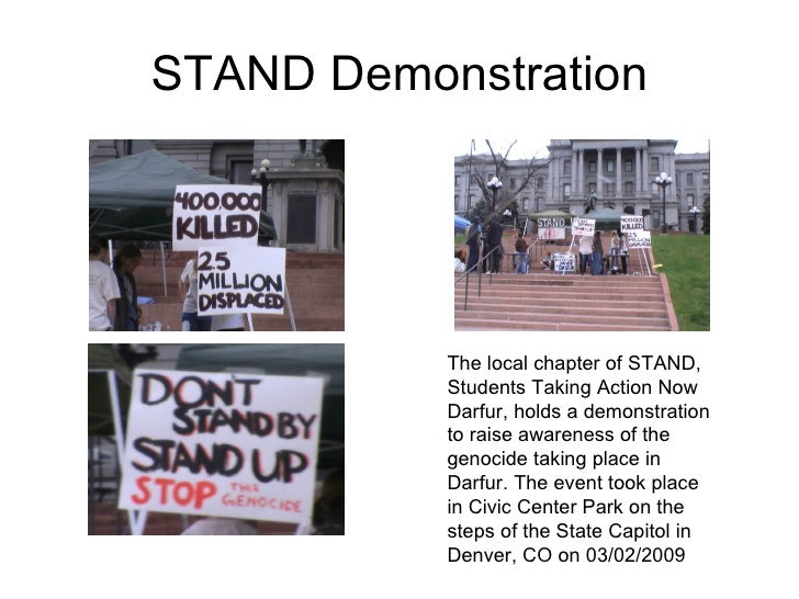 STAND Demonstration The local chapter of STAND, Students Taking Action Now Darfur, holds a demonstration to raise awarenes...