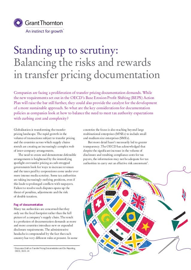 Globalisation is transforming the transfer pricing landscape. The rapid growth in the volume of transactions subject to tr...