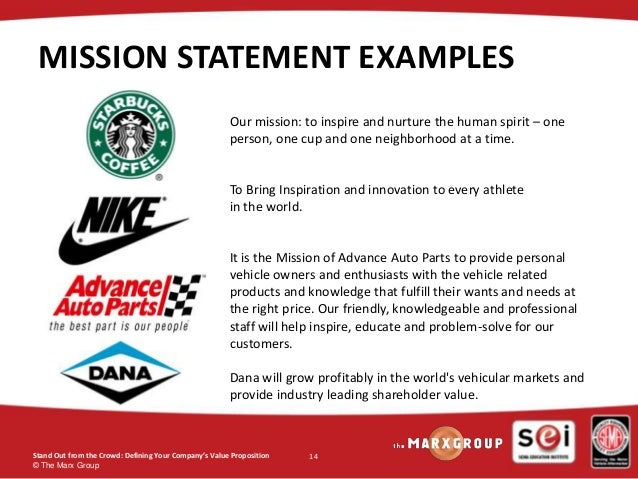 unique mission statements