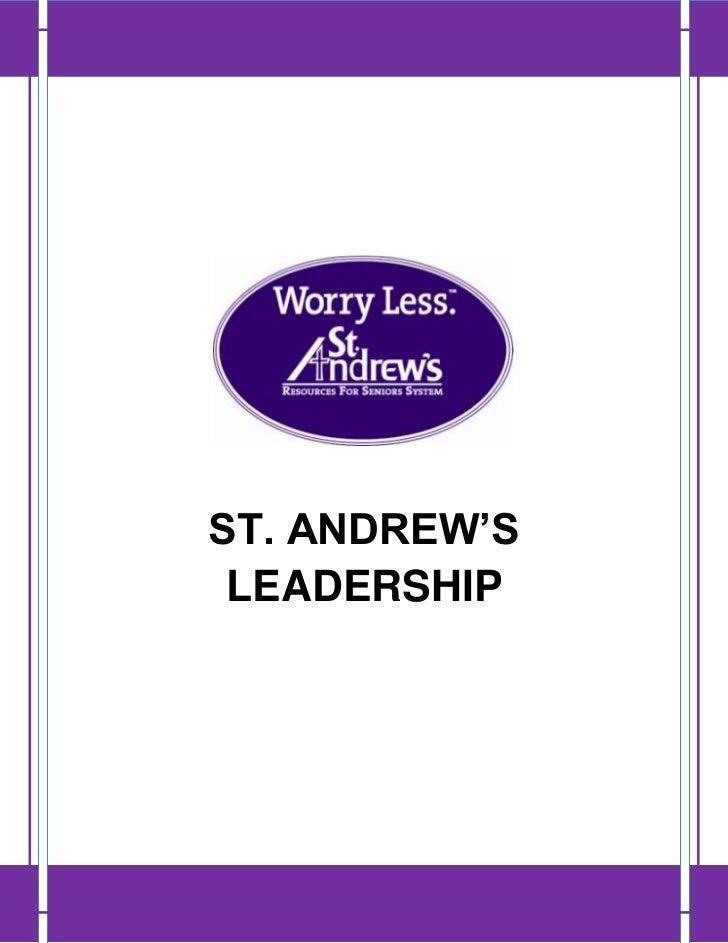ST. ANDREW'S LEADERSHIP