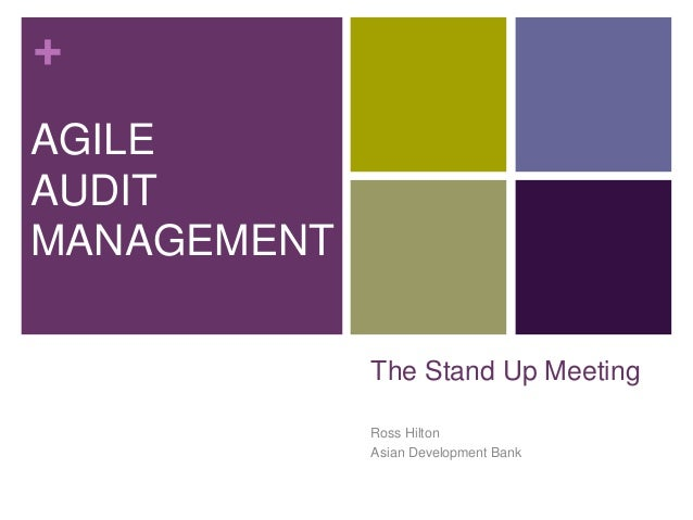 + The Stand Up Meeting Ross Hilton Asian Development Bank AGILE AUDIT MANAGEMENT
