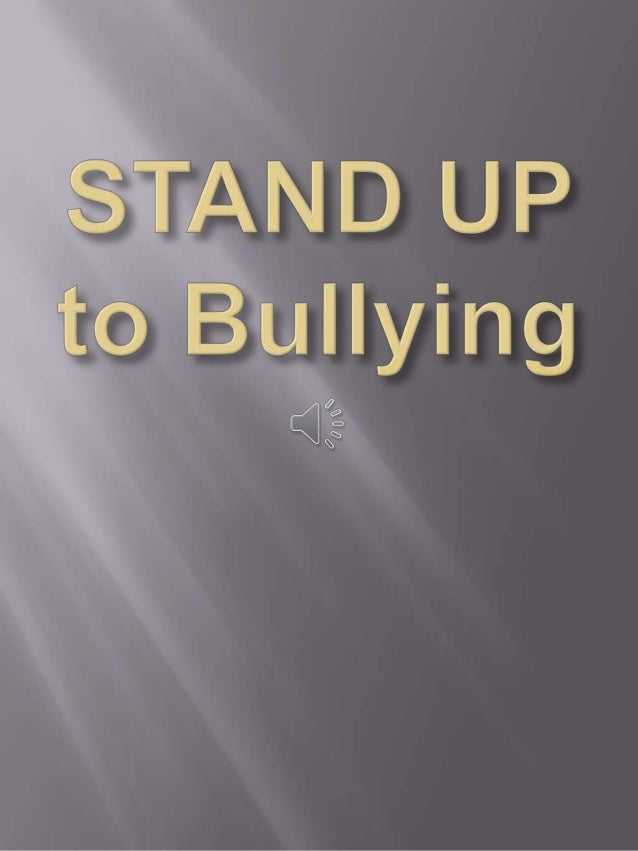 Stand up to bullying week