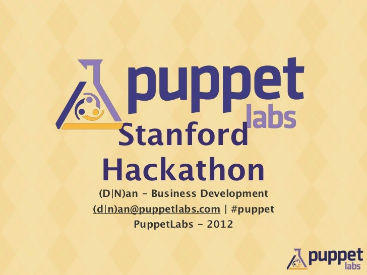 Stanford Hackathon - Puppet Modules