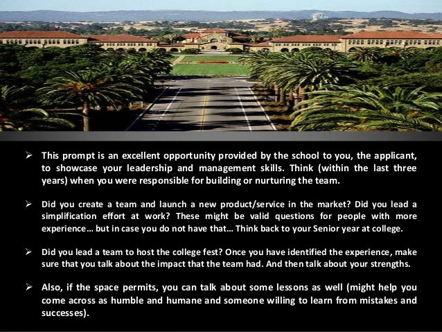 stanford mba essays 2011 · this is the first of five posts analyzing the stanford gsb mba essay questions for 2010/2011 admission it provides an overall perspective on applying to.