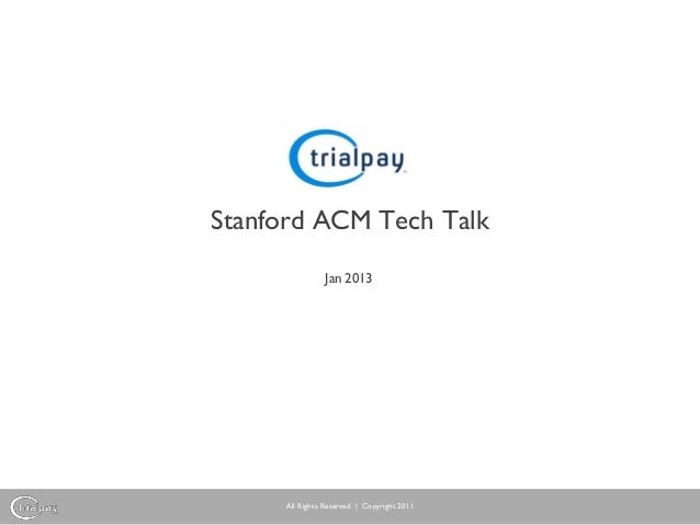 TrialPay Security Tech Talk at Stanford ACM