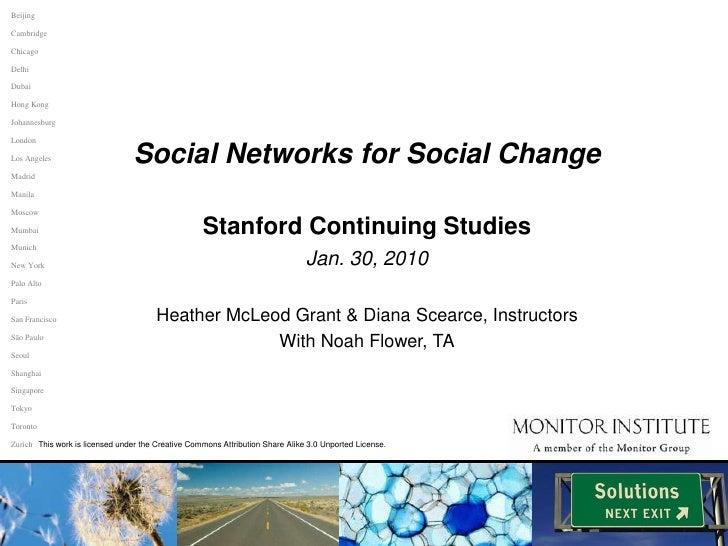 Social Networks for Social Change (WSP 166)