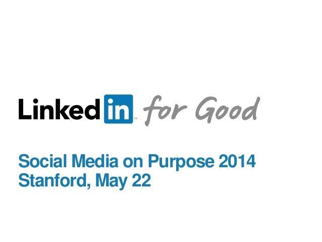 Stanford Social Media on Purpose: LinkedIn for Nonprofits