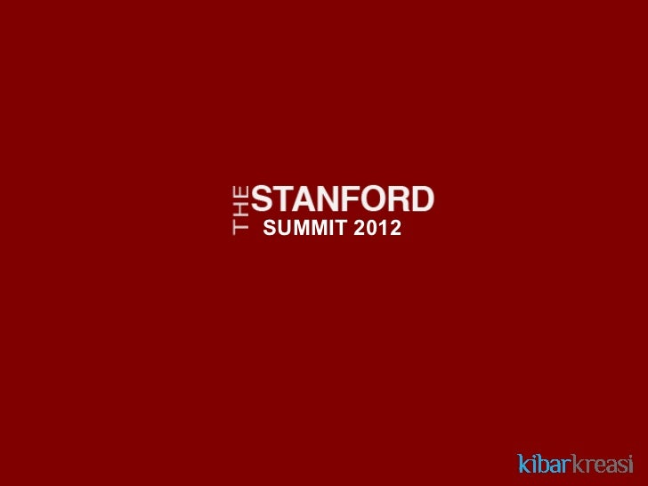 Info Session Stanford Summit 2012