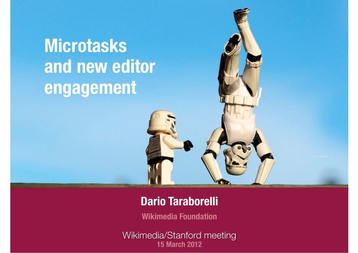 Microtasks and new editor engagement
