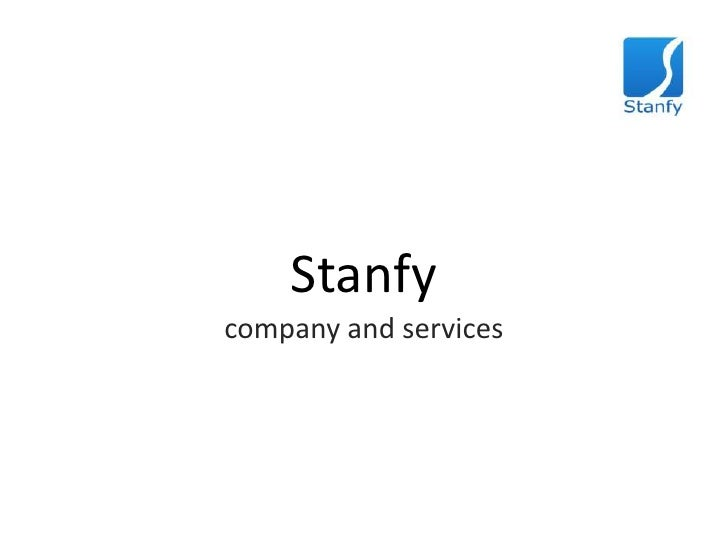 Stanfy<br />company and services<br />