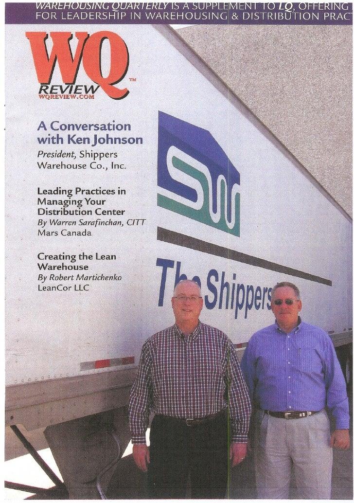 Stankiewicz April 2009 Logistics Quarterly Article