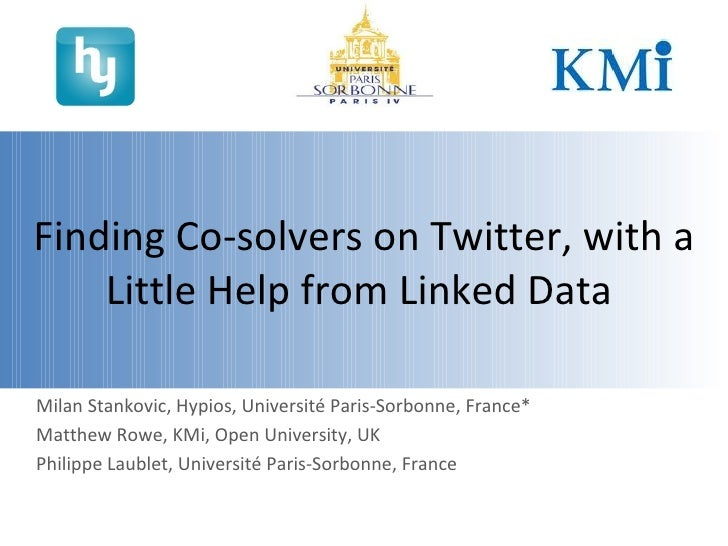 Finding Co-solvers on Twitter, with the Little Help from Linked Data