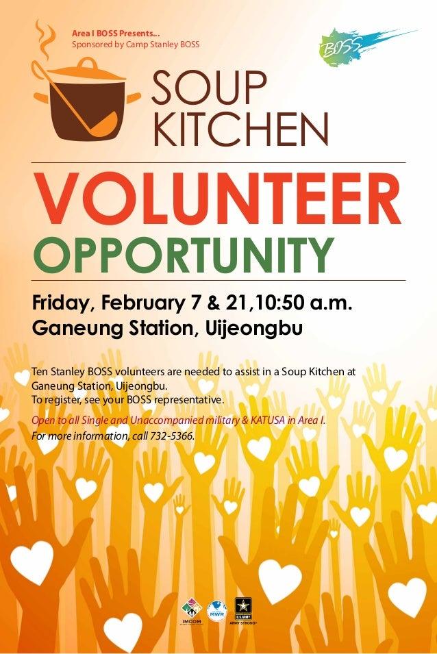 Stanley BOSS Soup Volunteer Opportunity