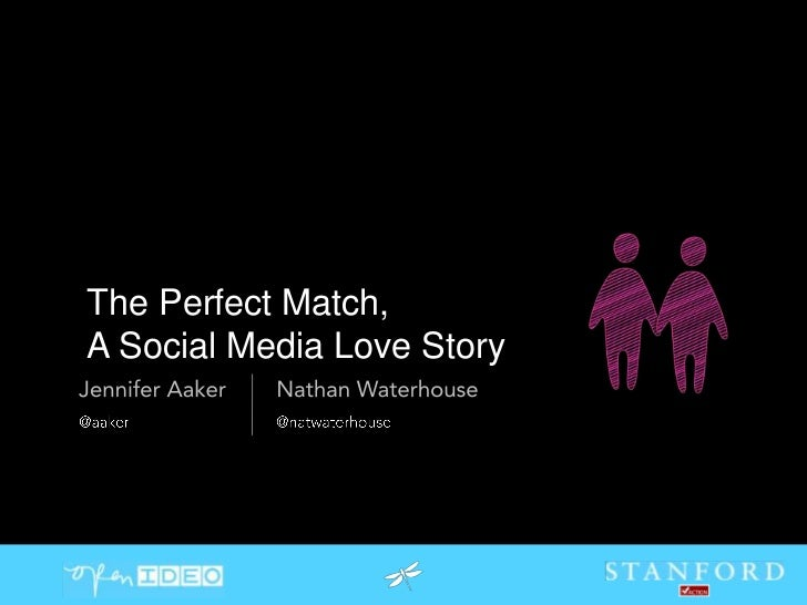 The Perfect Match, <br />A Social Media Love Story<br />@aaker<br />@natwaterhouse<br />