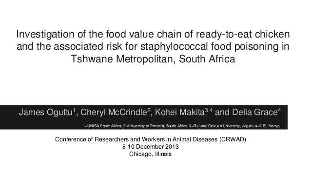 Investigation of the food value chain of ready-to-eat chicken and the associated risk for staphylococcal food poisoning in...
