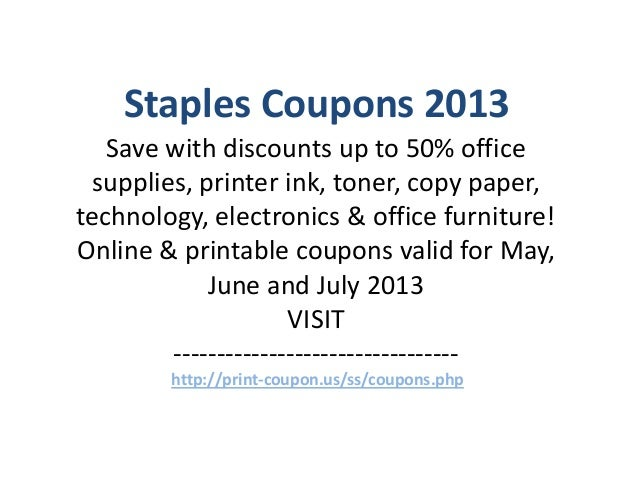Staples Coupon Code 2014