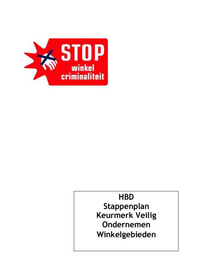 HBD  Stappenplan Keurmerk Veilig  Ondernemen Winkelgebieden