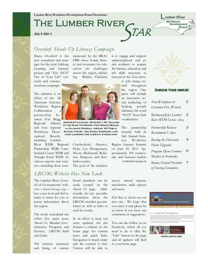 Lumber River Workforce Development Board Newsletter                                                                  START...