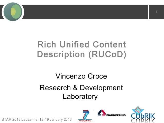 1                   Rich Unified Content                   Description (RUCoD)                             Vincenzo Croce ...