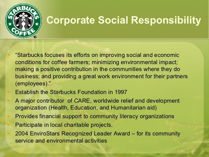 starbucks ethics and social responsibility practices analysis Business ethics (starbucks)  this is because ethical business practices result from a  of its commitment to social responsibility starbucks has earned this.