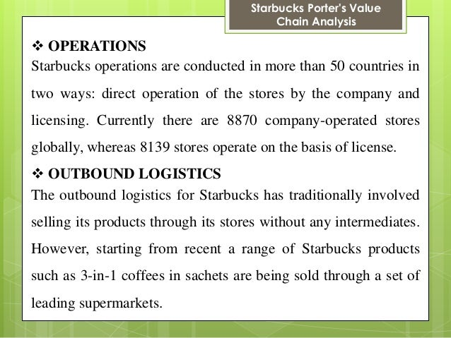outbound logistics starbucks View mariann pimentel's profile on linkedin, the world's largest professional community mariann has 1 job listed on their profile see the complete profile on linkedin and discover mariann's.