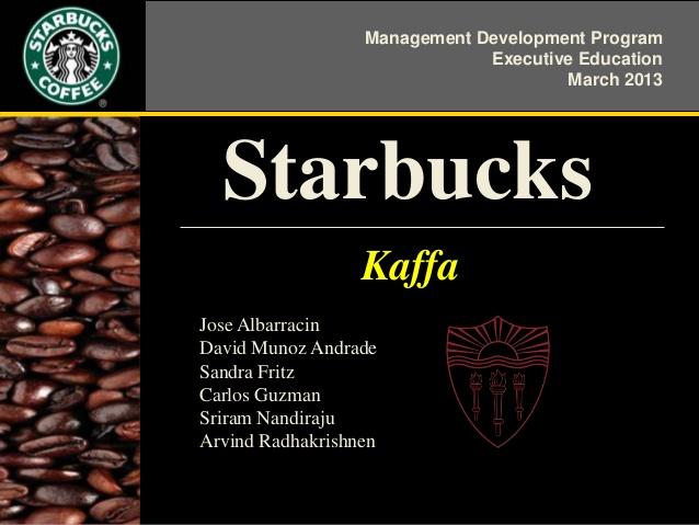 starbucks management essay