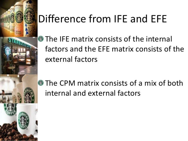 ife efe and cpm matrix Strategy-formulation framework external factor evaluation matrix (efe) internal factor evaluation matrix (ife) competitive profile matrix (cpm) stage 1.