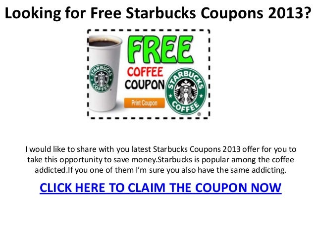 Starbucks Drive Though Coupons | Coupon Codes Blog