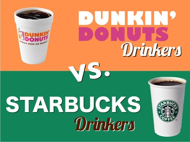 "DUNKIN' DONUTS STARBUCKS VS. Dr!""#$r% Dr!""#$r%"